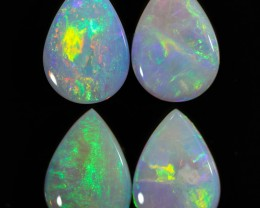 3.39 CTS PARCEL OF CRYSTAL OPALS CALIBRATED - LIGHTNING RIDGE[SEDA233]