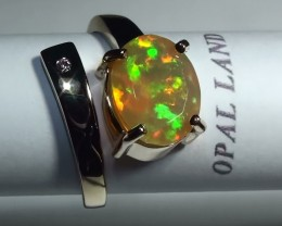 20.65 ct Stunning 10k Solid Yellow Gold Gem Welo Facet Ring *