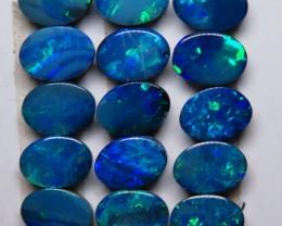 Australian Doublet Opal 7x5mm 15 stone Parcel