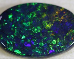 4.40CTSDOUBLE SIDED BLACK  OPAL [km1]