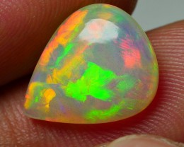 2.90 CRT BRILLIANT MILK BASE BROAD PUZZLE PATTERN WELO OPAL