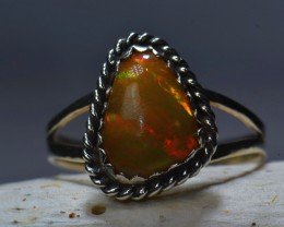 7.75sz HIGH QUALITY STERLING .925 SOLID OPAL RING