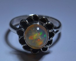 5sz HIGH QUALITY STERLING .925 SOLID MEXICAN OPAL RING