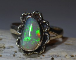 6.25sz HIGH QUALITY STERLING .925 SOLID WELO OPAL RING