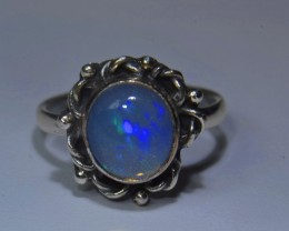 5.25sz HIGH QUALITY STERLING .925 SOLID WELO OPAL RING