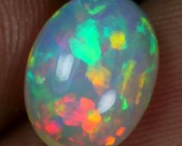 2.20cts Crayon Rainbow Flagstone Ethiopian Opal