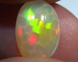 3.10 ct Beautiful Gem Honeycomb Rainbow Welo Cab M124