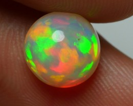 2.10 CRT GORGEOUS ROUND OF FIRE FLAGSTONE PATTERN WELO OPAL