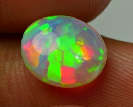 3.00 CRT TOP STUNNING DOUBLE SIDE NEON HONEYCOMB PUZZLE PATTERN WELO OPAL
