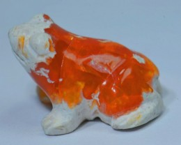 CARVED FROG SOLID CRYSTAL OPAL HIGH QUALITY CRAFTMANSHIP