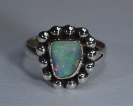 6.5sz No Reserve Auction! Sterling Ring Ethiopian Quality Welo Opal!