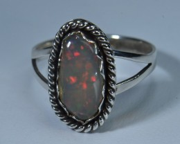 7sz No Reserve Auction! Sterling Ring Ethiopian Quality Welo Opal!