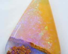 23.20CT VIEW PIPE WOOD REPLACEMENT BOULDER OPAL RI137
