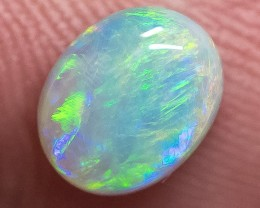 SEMI-BLACK SOLID OPAL LIGHTNING RIDGE 1.53ct GEM $1 N/R AUC SBB120218
