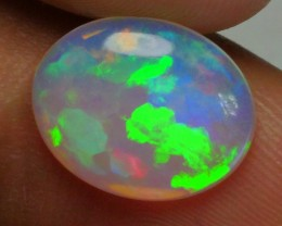 2.00 CRT CRYSTAL CLEAR GREENISH PUZZLE PATTERN PLAY COLOR WELO OPAL