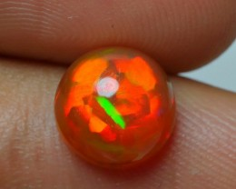 1.55 CRT BROWN BASE NEON RED FLASH PUZZLE PATTERN WELO OPAL