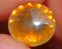 1.10 CRT FIRE OPAL FACETED YELLOWISH ORANGE COLOR INDONESIAN OPAL