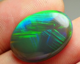 9.80 CRT AWESOME NATURAL DARK OPAL BLOCK NEON BROAD CHAFF PATTERN WELO OPAL