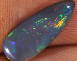 2ct 18x7mm Solid Lightning Ridge Dark Opal [LO-1007]