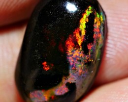 4.80 CRT WOOD OPAL INFERNO FIRE COLOR INDONESIAN OPAL