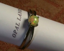 Stunning 925 Silver Bright Multi Color Welo Ring