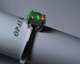 11.20 ct Stunning 925 Silver Bright Multi Color Welo Ring
