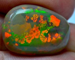 11.18CT DARK BASE BRIGHT CARVED  ETHIOPIAN WELO OPAL