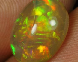 2.40cts Stunning Color Play Crack Inclusion Ethiopian Opal