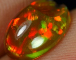 1.70cts Wonderful Color play, but Broken on the surface Ethiopian Opal