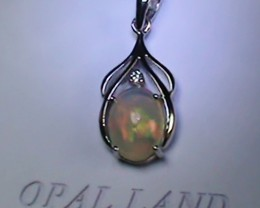 6.30 ct Stunning Modern 925 Silver Solid Welo Opal Pendant