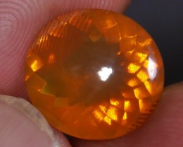 3.90 Ct UNTREATED FIRE INDONESIAN FACETED OPAL