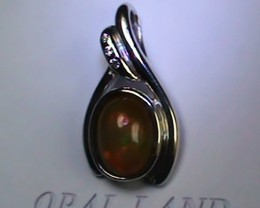 15.05 Stunning Modern 925 Silver Solid Welo Opal Pendant