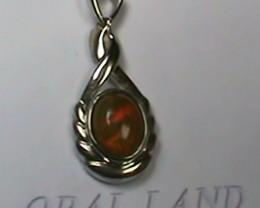 7.75 ct Stunning Modern 925 Silver Solid Welo Opal Pendant