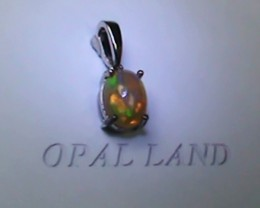 3.60 ct Stunning Modern 925 Silver Solid Welo Opal Pendant