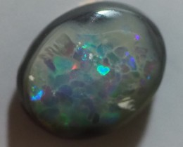 2.15CT SOLID SEMI BLACK LIGHTING RIDGE OPAL MI39