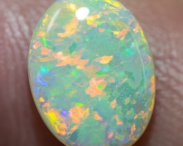 SEMI-BLACK SOLID OPAL LIGHTNING RIDGE 1.76ct GEM $1 N/R AUCTION SBC260218