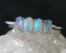Cute Solid Crystal  Opal Rings size 7 us SU 581