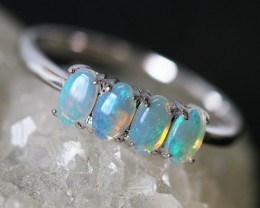 Cute Solid Crystal  Opal Ring SIZE 7   SU 582
