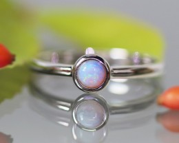 Cute Solid Crystal  Opal Rings  size 7.5SU 587