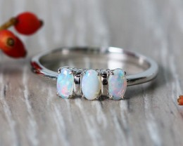 Cute Solid Crystal  Opal Rings  SU 588