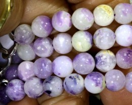 "112CTS PURPLE OPAL BEADS - FROM MEXICO ""MORADO""  LO-4655"