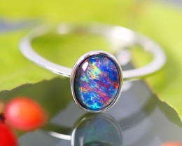 Cute Triplet Opal Rings  SU 590