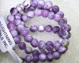 120CTS PURPLE OPAL BEADS - FROM MEXICO