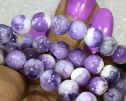 "118 CTS PURPLE OPAL BEADS - FROM MEXICO ""MORADO""  LO-4657"