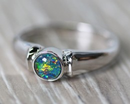 Cute Triplet Opal Rings  SU 592