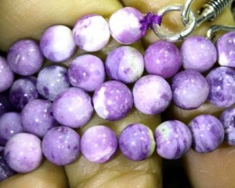 "102 CTS PURPLE OPAL BEADS -  FROM MEXICO ""MORADO""   LO-4658"