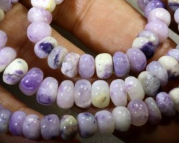 "166 CTS  PURPLE OPAL BEADS -  FROM MEXICO ""MORADO""  LO-4663"