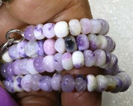 "111 CTS PURPLE OPAL BEADS -FROM  MEXICO "" MORADO "" LO-4666"