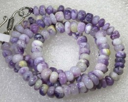 "97 CTS PURPLE OPAL BEADS -FROM  MEXICO "" MORADO "" LO-4667"
