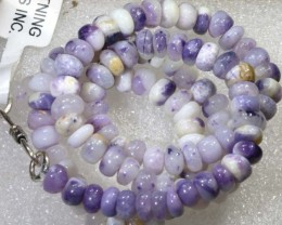 "131 CTS PURPLE OPAL BEADS -FROM  MEXICO "" MORADO "" LO-4668"